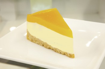 Mango Cheescake on the table