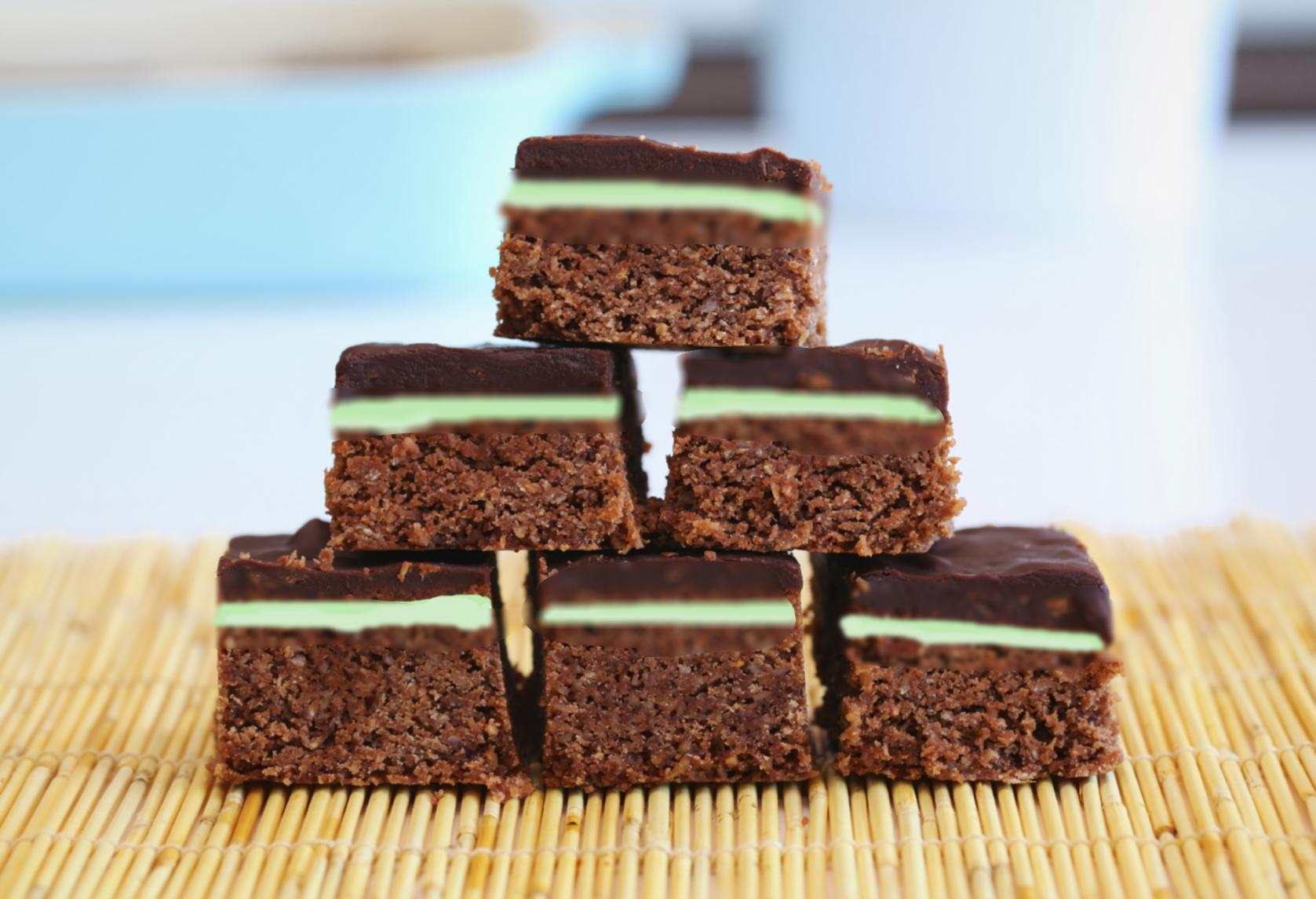 Minty brownies