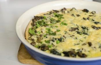 Riċetta veġetarjana: Pizza bil-faqqiegħ (mushrooms)