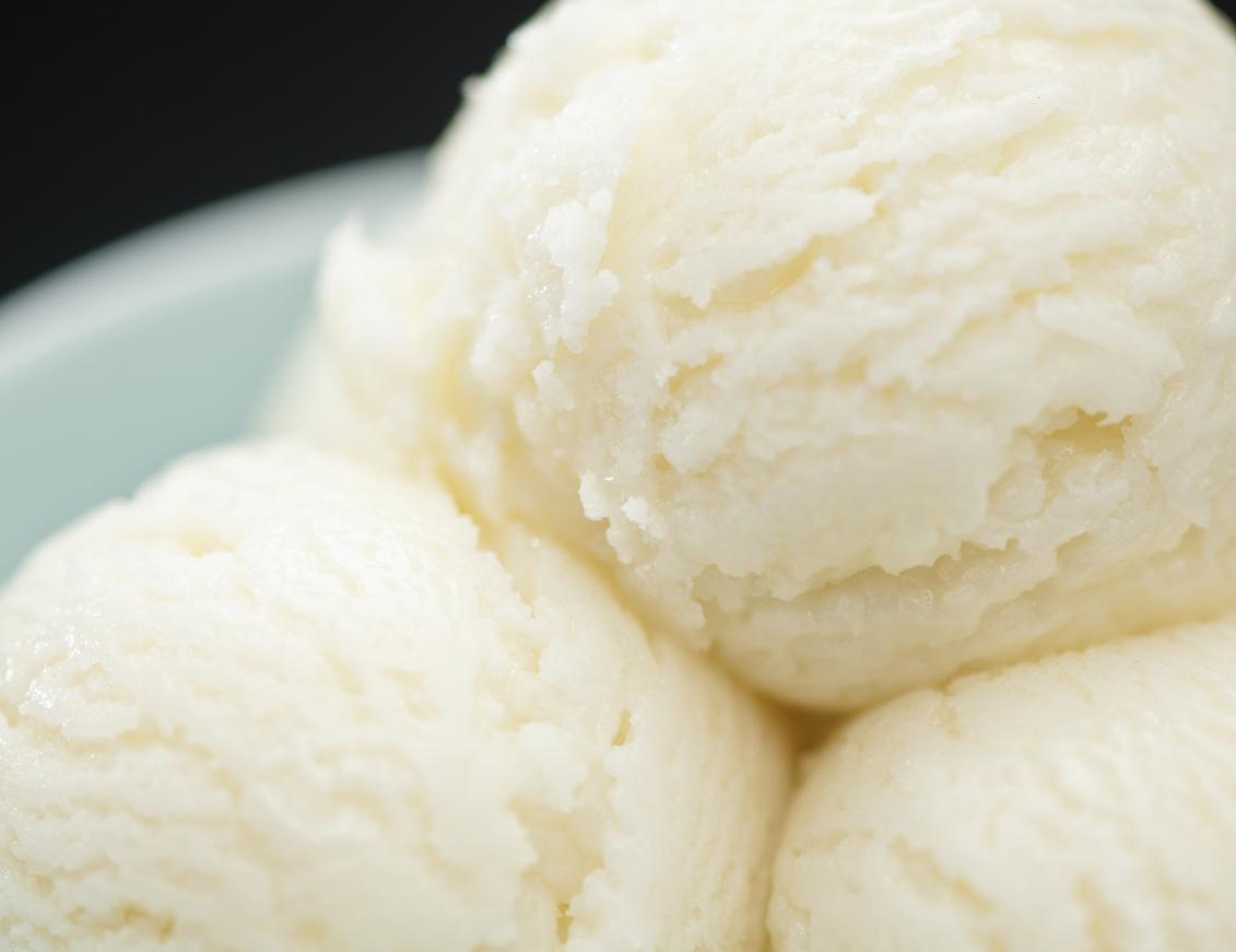 Ricotta and honey ice cream