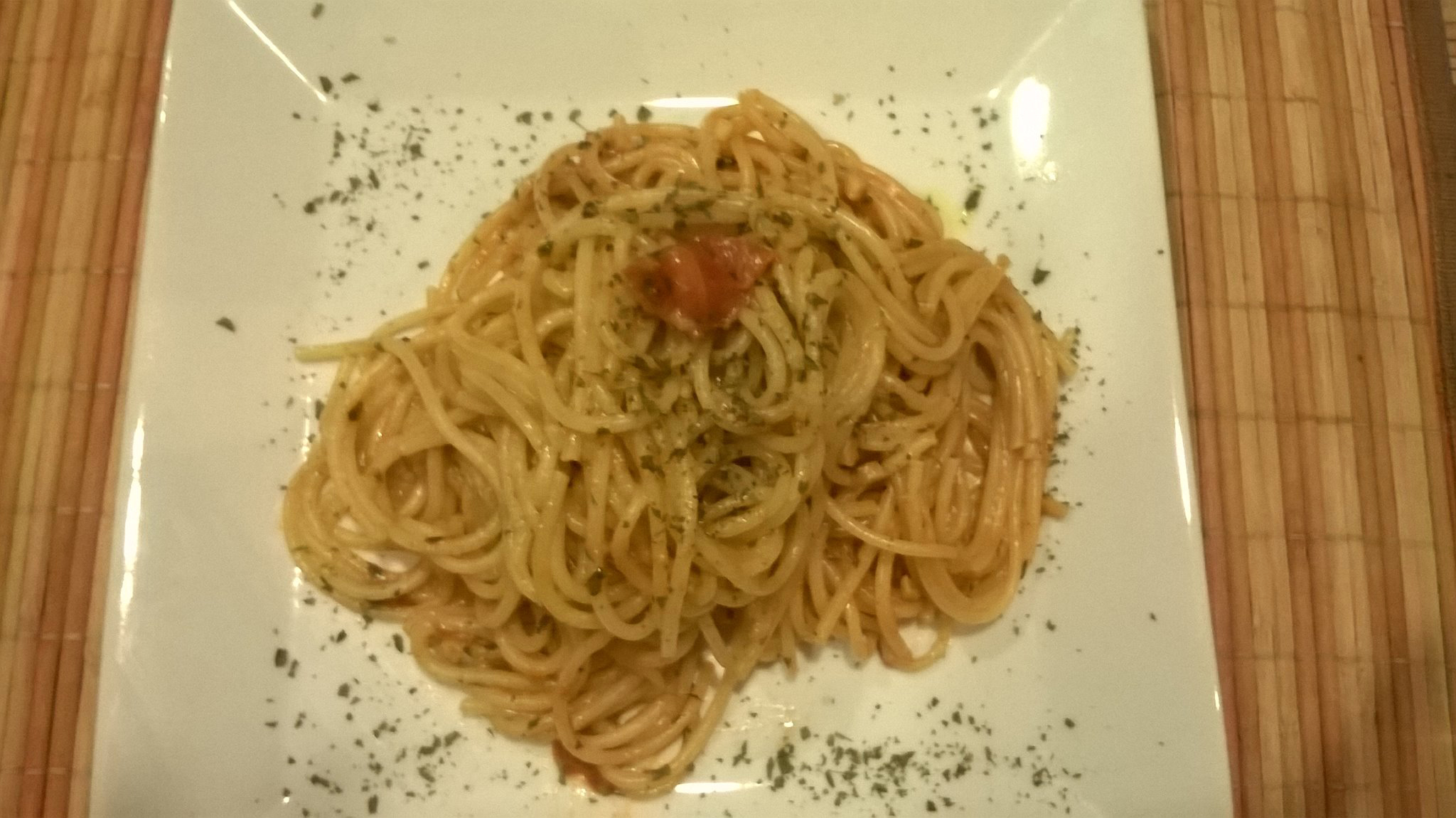 Spaghetti with sea urchins. Photograph by Pauline Spiteri Bugeja