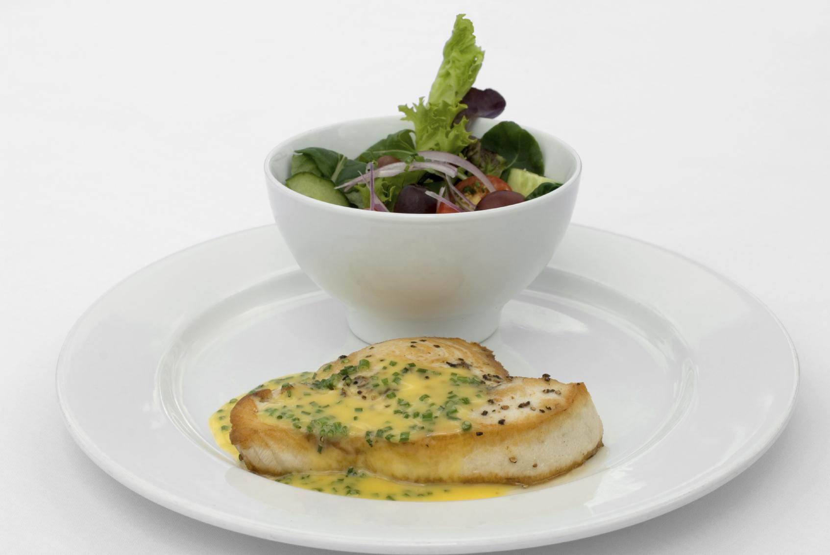 Swordfish, lemon and herbs