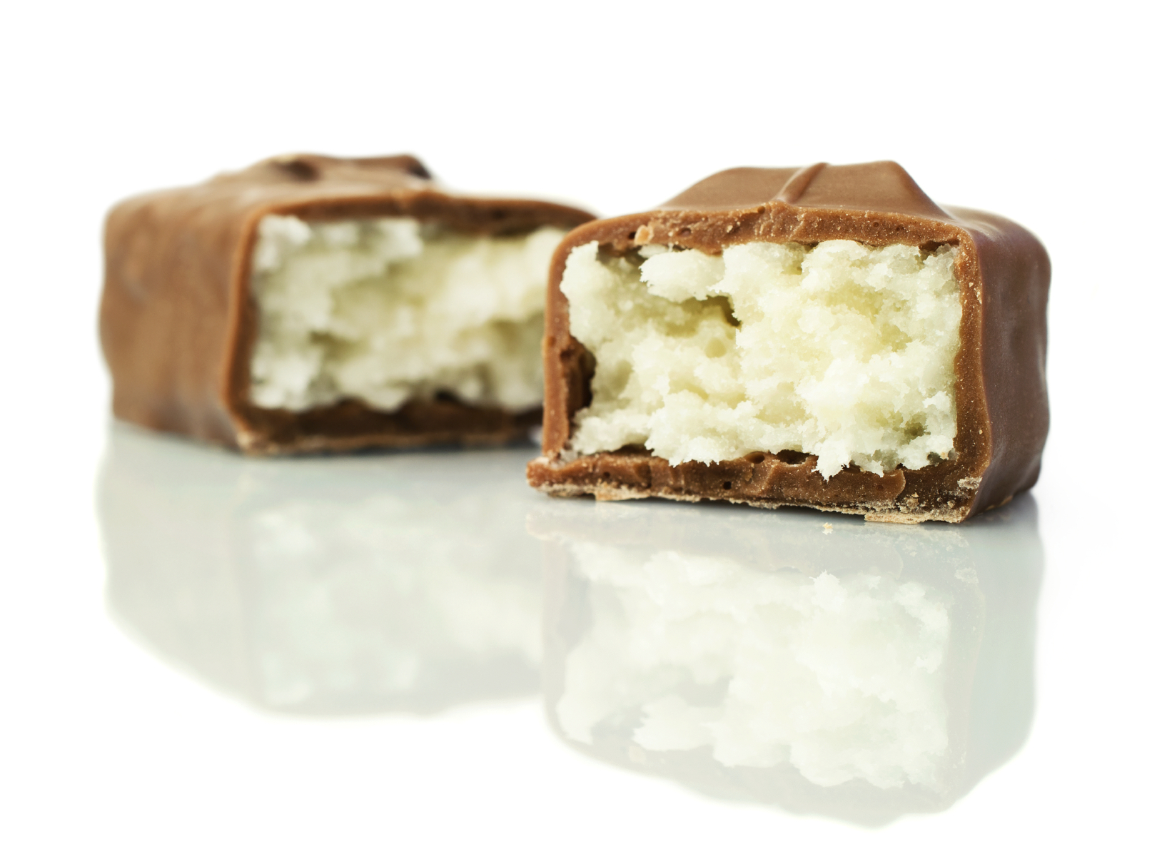 Chocolate bar with coconut