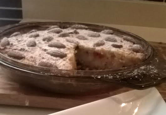 Ground almonds and ricotta tart (Photograph by Pauline Spiteri Bugeja)