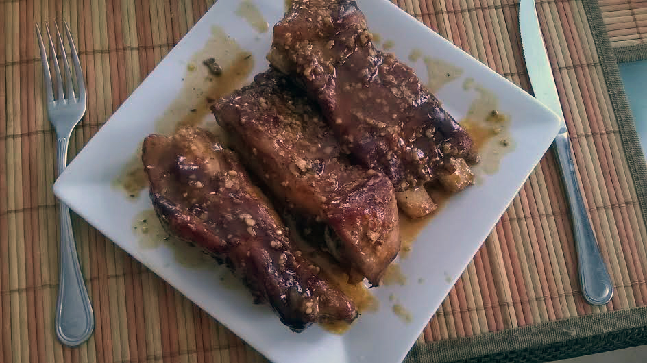 Maltese pork ribs in lemon and honey (Photo by Pauline Spiteri Bugeja)