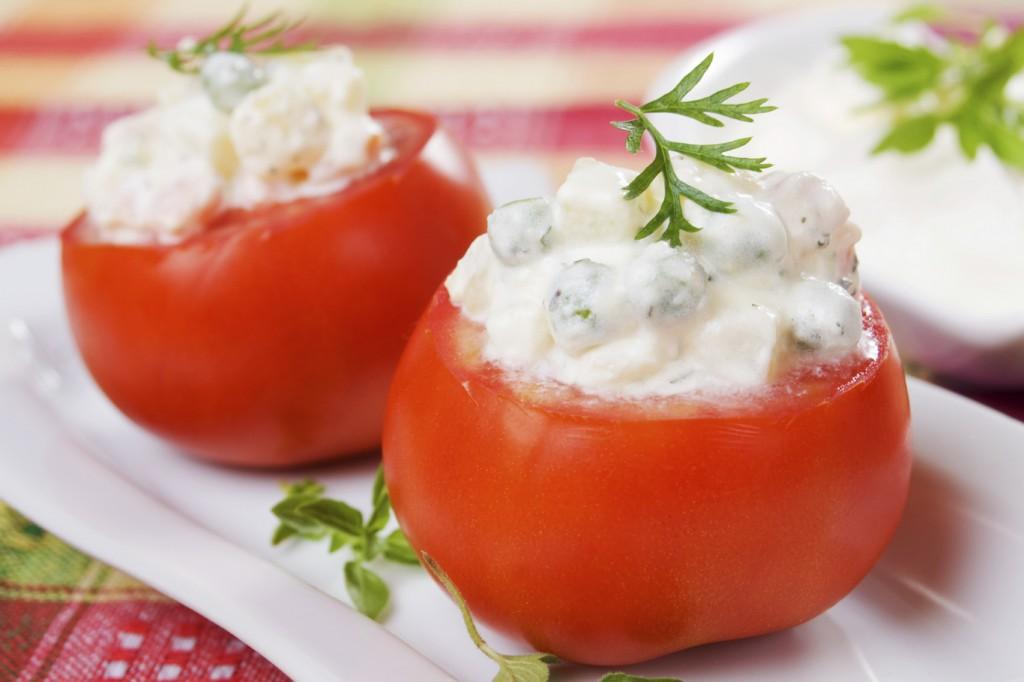Mushroom and gbejna tomatoes