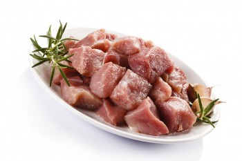 Pork cubes with rosemary and garlic