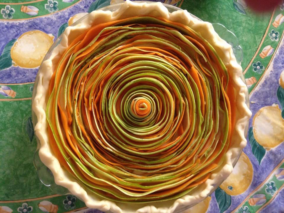 Vegetable spiral tart (Photography by Stefania Tabone)