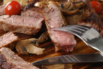 Beef slices with mushrooms