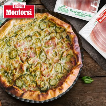 Zucchini & Montorsi Prosciutto Cotto Tart