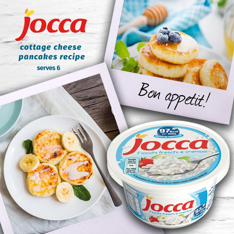 Jocca Cottage Cheese pancakes recipe